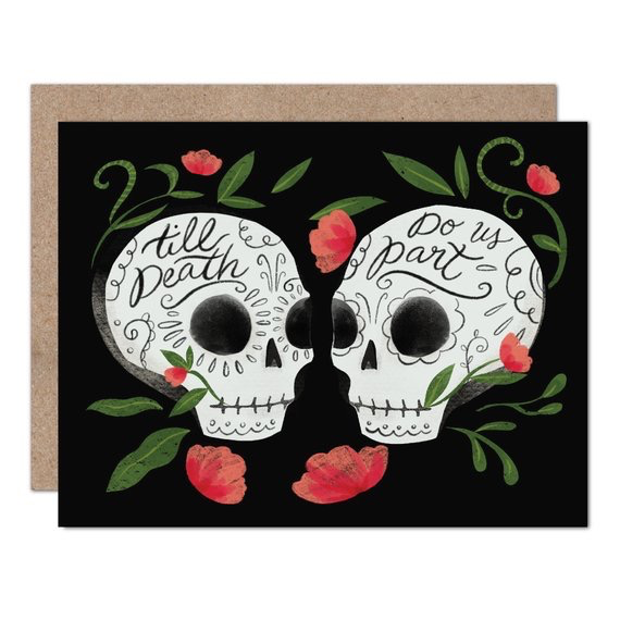 Til Death Do Us Part Wedding Card