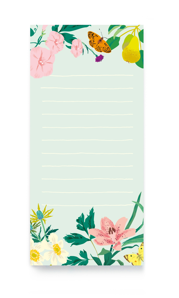 Floral Magnetic List Notepad