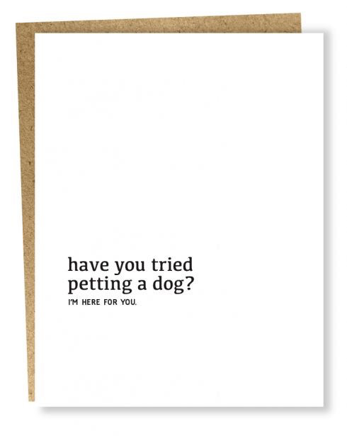 Dog Therapy Card
