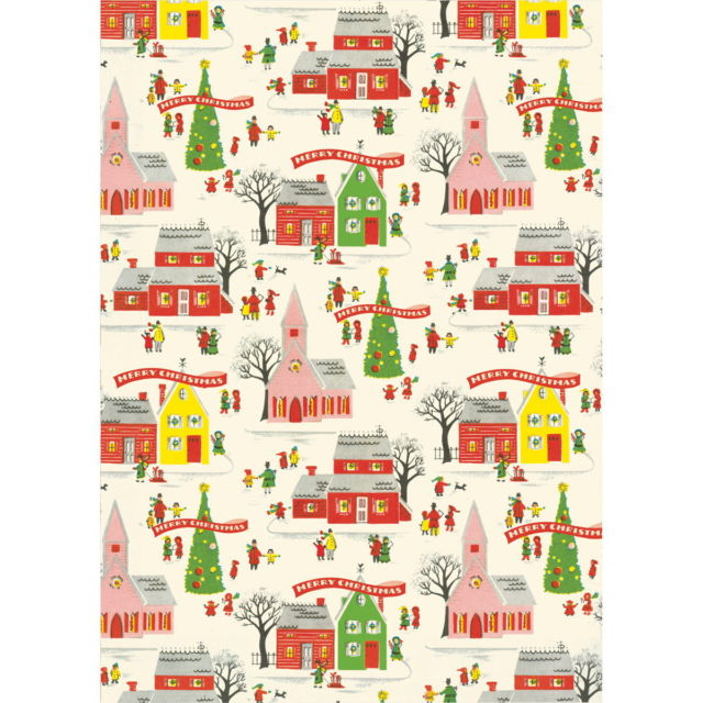 Christmas Village Wrap Paper Sheet (pick up only)