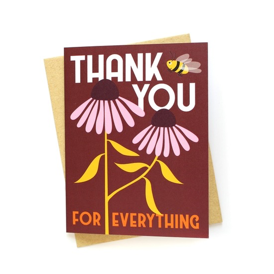 Coneflowers Thank You Card