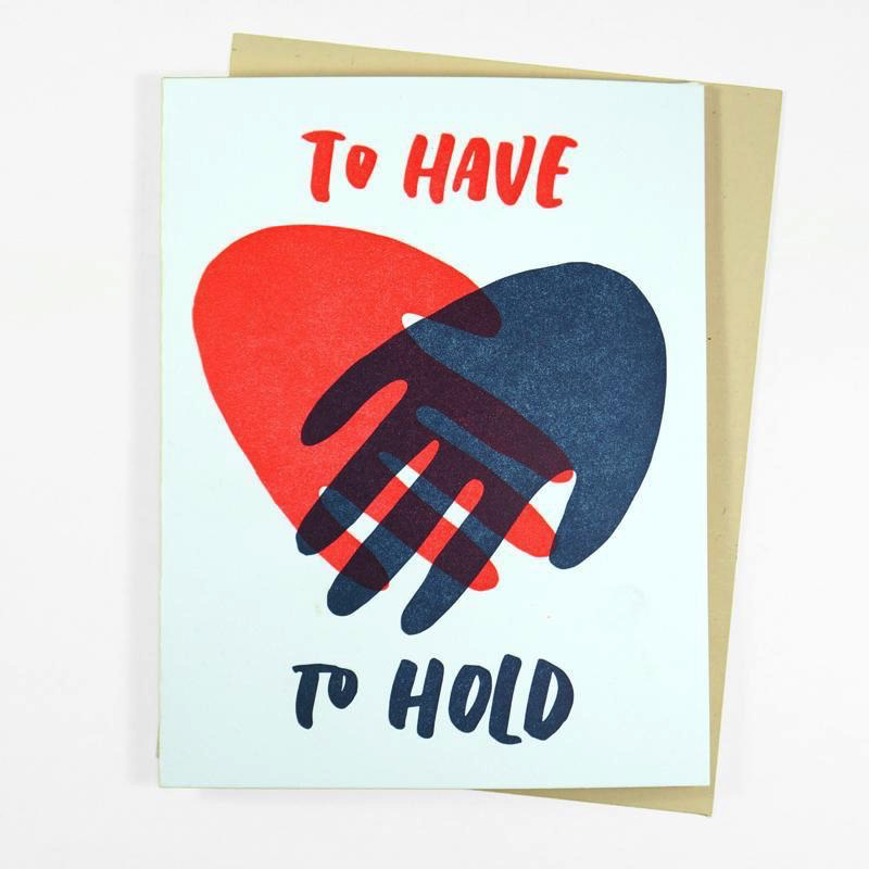 Hold Hands Wedding Card