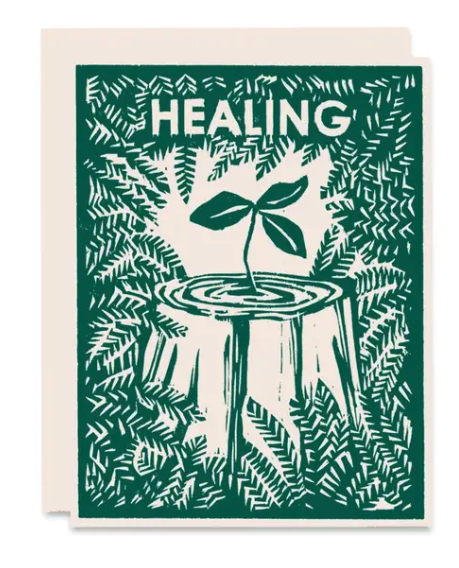 Healing Nurse Tree Card