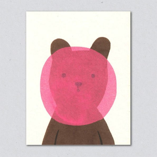 Buggelgum Bear Card