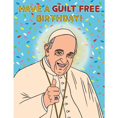 Pope Francis Birthday Card