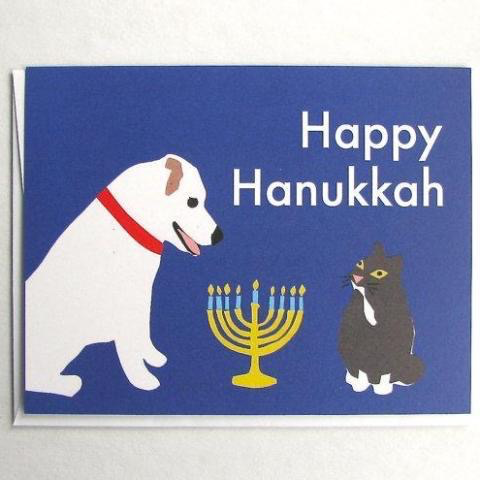 Dog & Cat Menorah - Box of 8