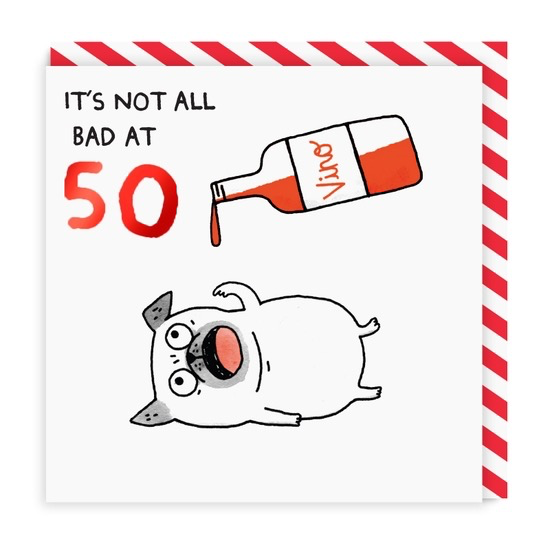 Not Bad At 50 Greeting Card