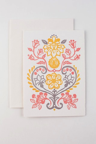 Flowers and Vine Card