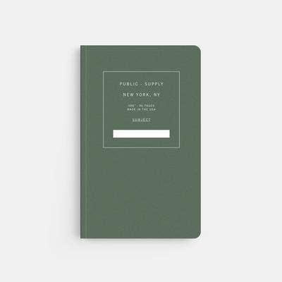 Soft Cover Notebook: Green Dot Grid