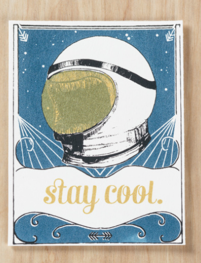 Stay Cool Astronaut Card