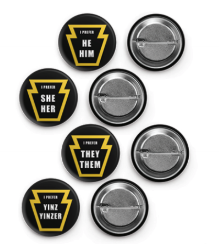Keystone Pronoun Button (Yinz/Yinzer)