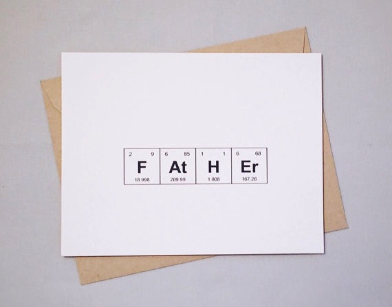 Periodic Table Father's Day Card