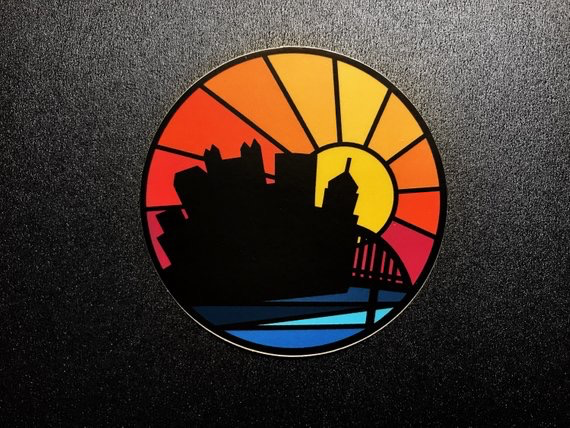 Pittsburgh City Sunset Sticker