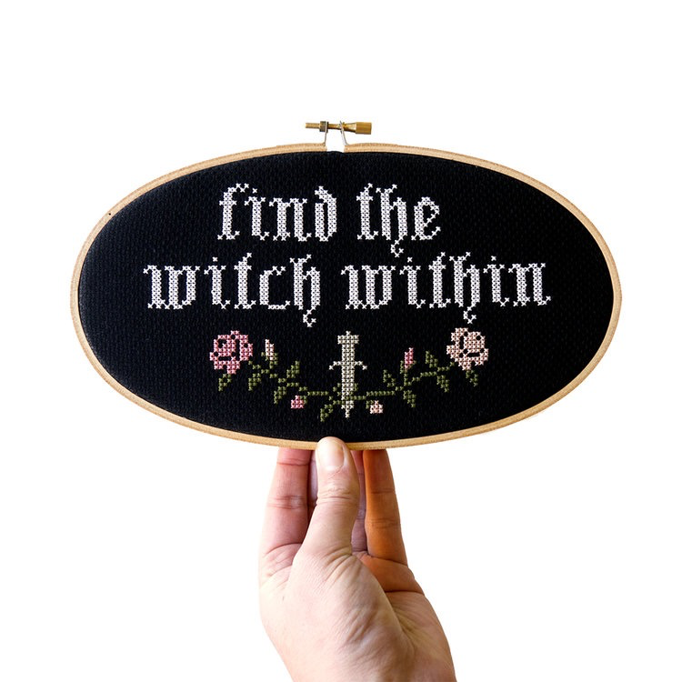 Find the Witch Within Cross Stitch Kit