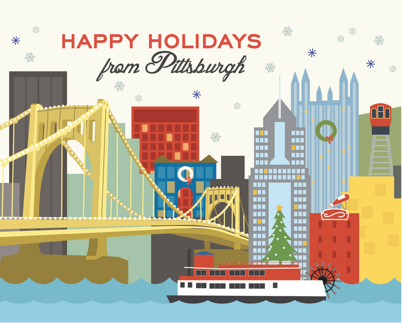 Pittsburgh Skyline Holiday Boxed Cards