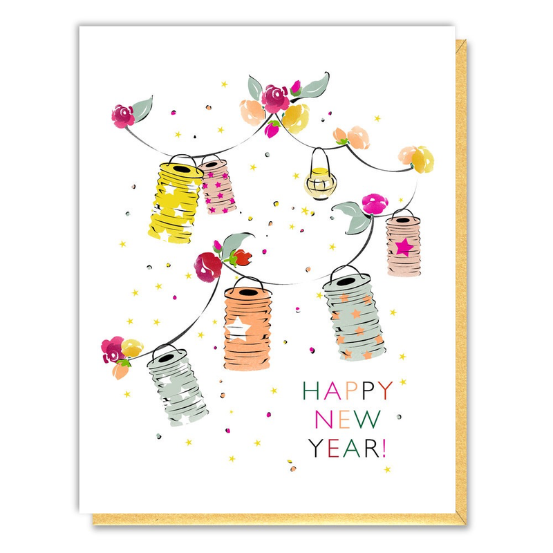 New Year Lanterns Card