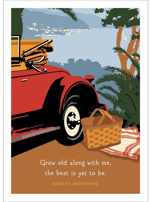 Car Picnic Anniversary Card