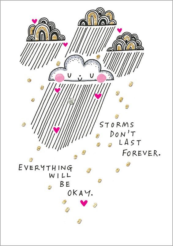 Storms Don't Last - Friendship Card