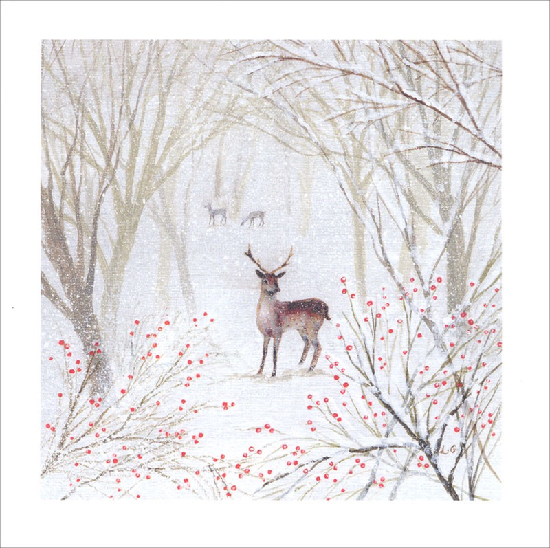 Deer in Midwinter - Christmas Cello Packs