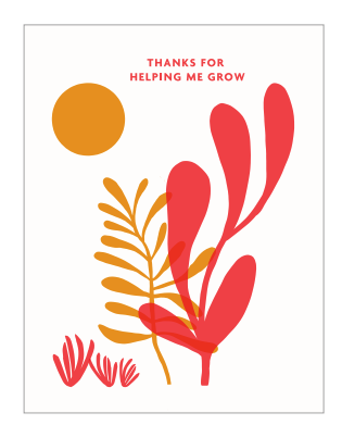 Helping Me Grow Thank You Card
