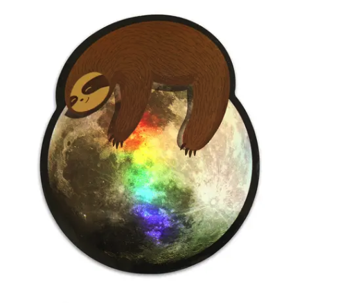 Sloth on the Moon Sticker