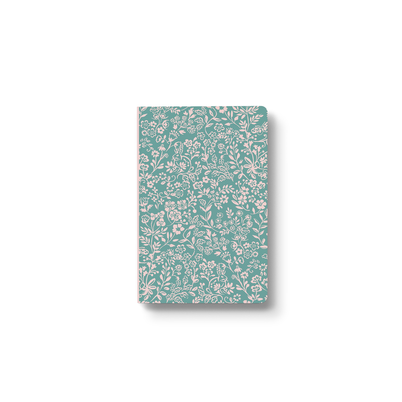 Green Meadow Layflat Lined Notebook