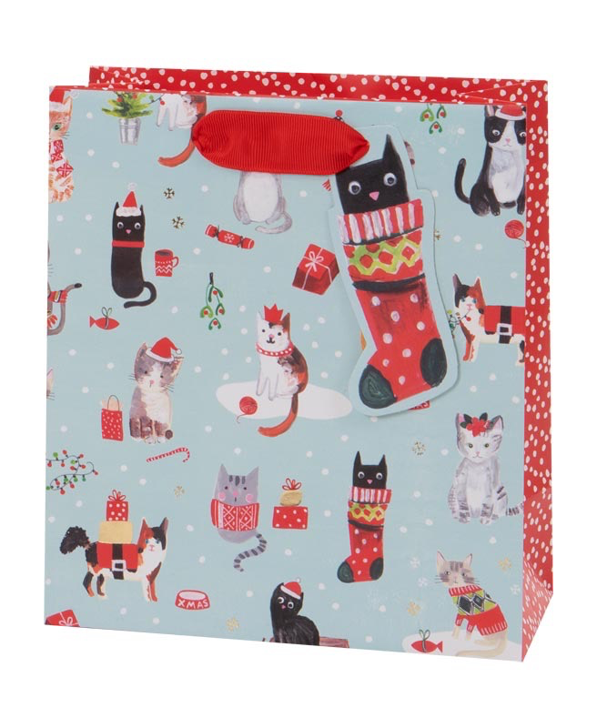 Christmas Kittens Medium Bag