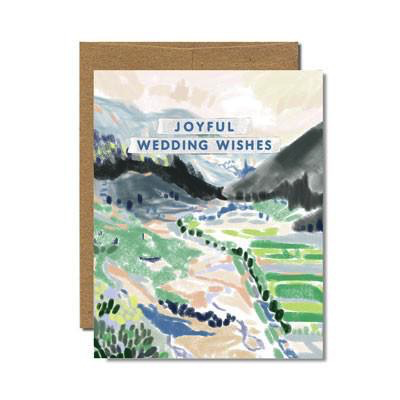 Provence Wedding Wishes Card