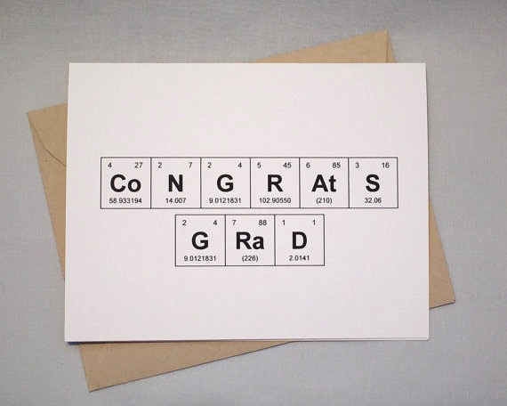 Periodic Table Graduation Card