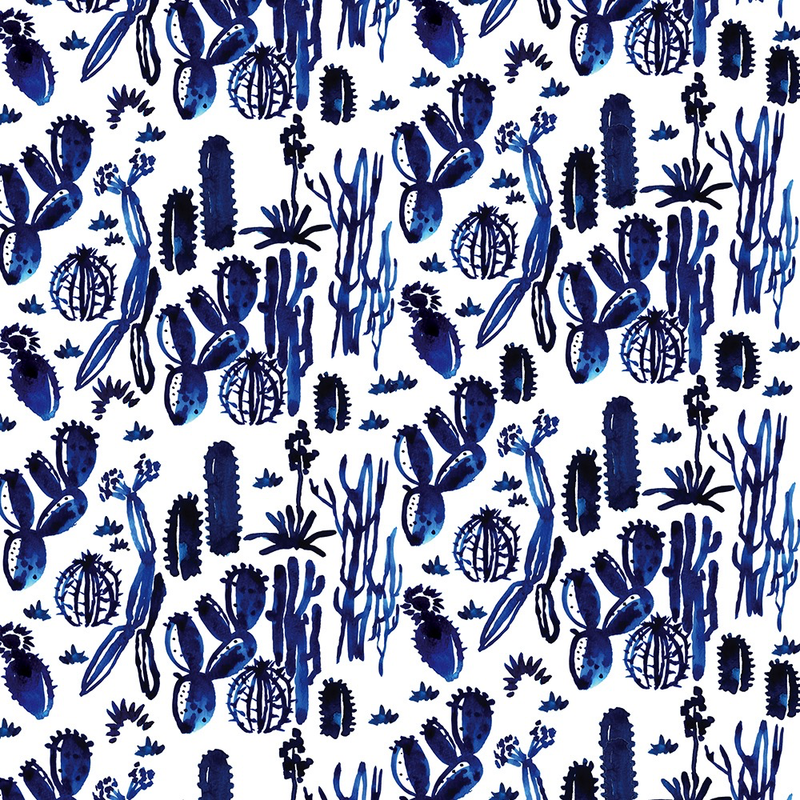 Indigo Cactus Wrap Paper (Pick Up Only)