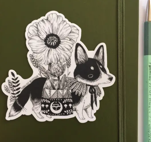 Short Foot (Corgi) Sticker