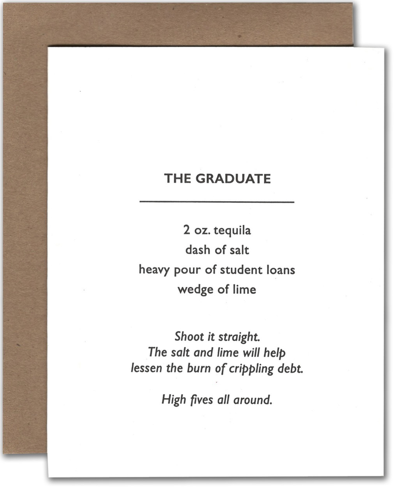 Graduation Cocktail Card