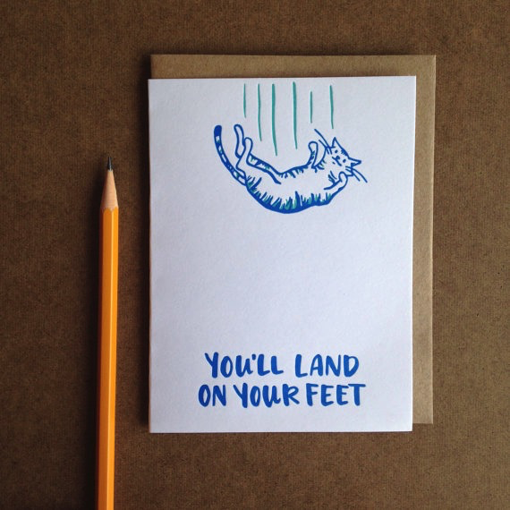 Land On Your Feet Card