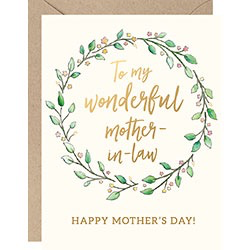 Mother In Law Wreath Card