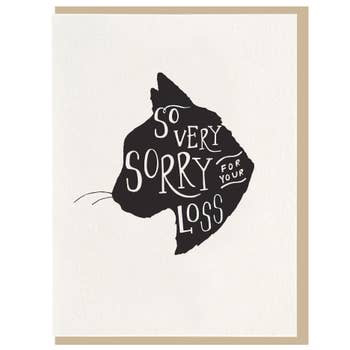 So Very Sorry Cat Sympathy Card