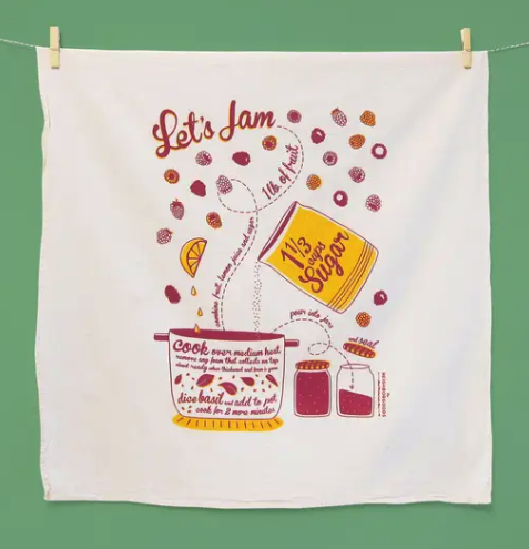 Let's Jam Tea Towel