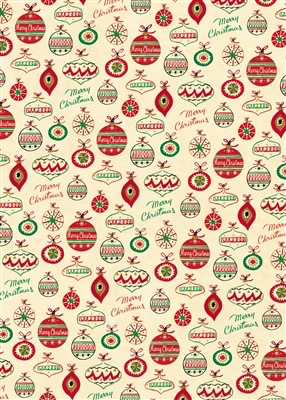 Vintge Ornaments Wrap Paper Sheet (pick up only)