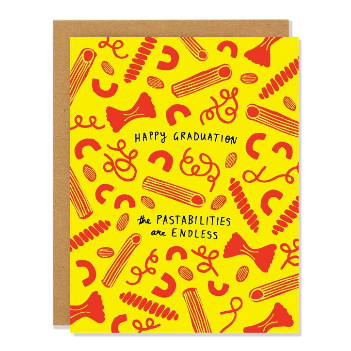 Pastabilities Graduation Card