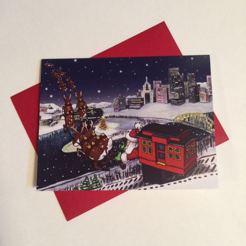 Pittsburgh Incline Holiday Card