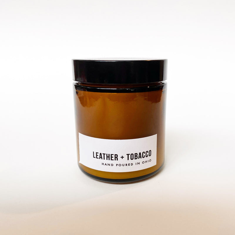 Leather and Tobacco Travel Candle