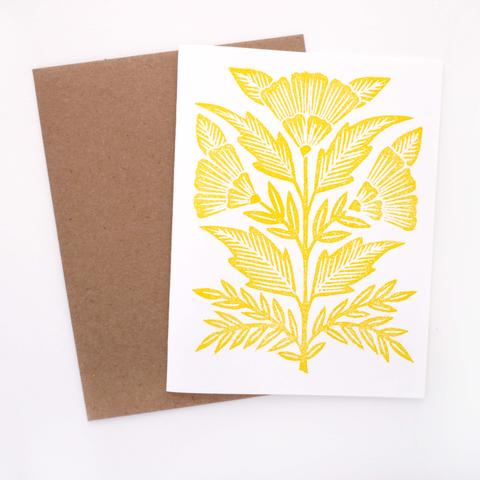 Yellow Block Printed Boxed Cards