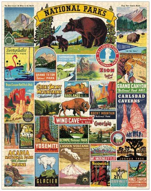 National Parks 1,000 Piece Puzzle (Pick Up Only)