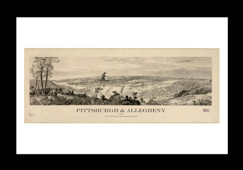 A Monster in Old Pittsburgh Print