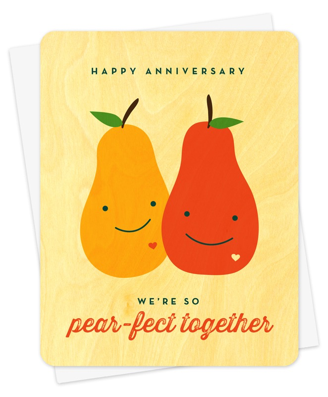 Pear-fict Together Anniversary Card