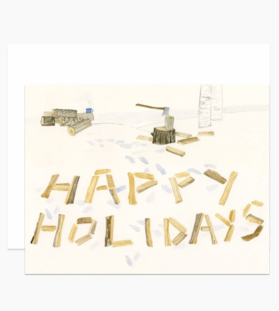 Split Logs Holiday Card