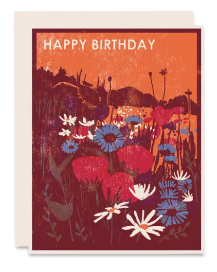 Wildflowers Birthday Card