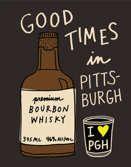 Good Times in Pittsburgh Postcard
