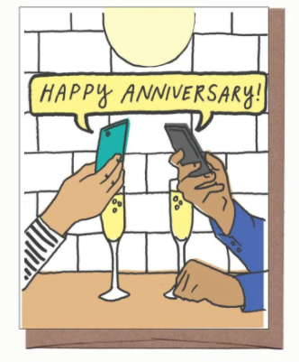 Happy Anniverary Phones Card