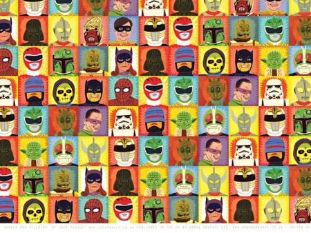 Heroes and Villians Wrap Paper Sheet (Pick Up Only)