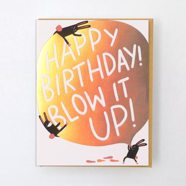 Blow It Up Birthday Card